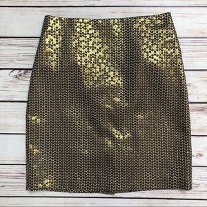 SUNNY LEIGH Gold Sequined Skirt